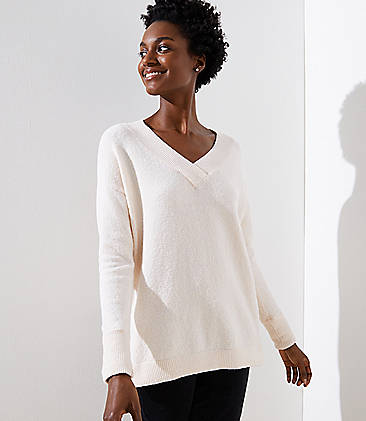 f6e04e280e8 Drop Shoulder V-Neck Sweater