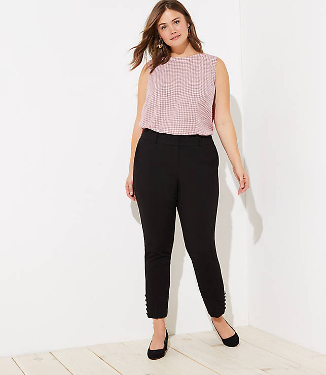 Loft Plus Slim Button Cuff Pants by Loft