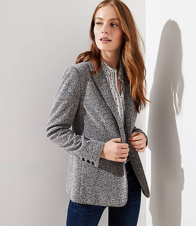 Petite Brushed Knit Blazer