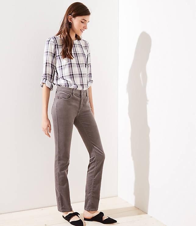 fcedbeb5295 Petite Modern Straight Leg Corduroy Pants