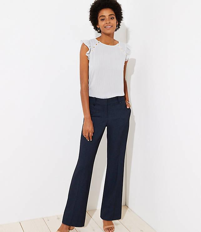 Petite Trousers in Tweed in Marisa Fit