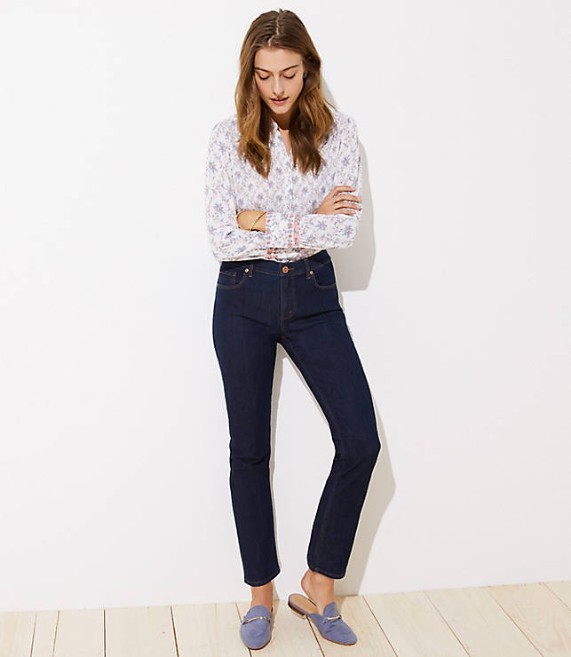 Petite Modern Straight Leg Jeans in Dark Rinse Wash