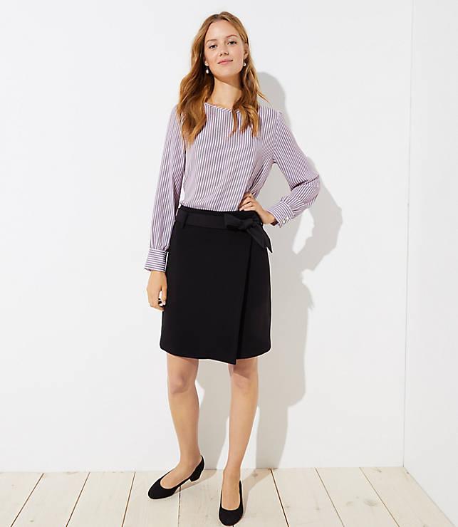 Petite Tie Waist Wrap Skirt