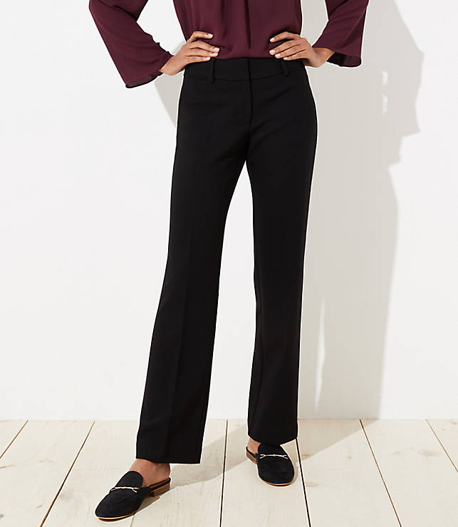 Petite Trousers In Doubleweave In Julie Fit by Loft