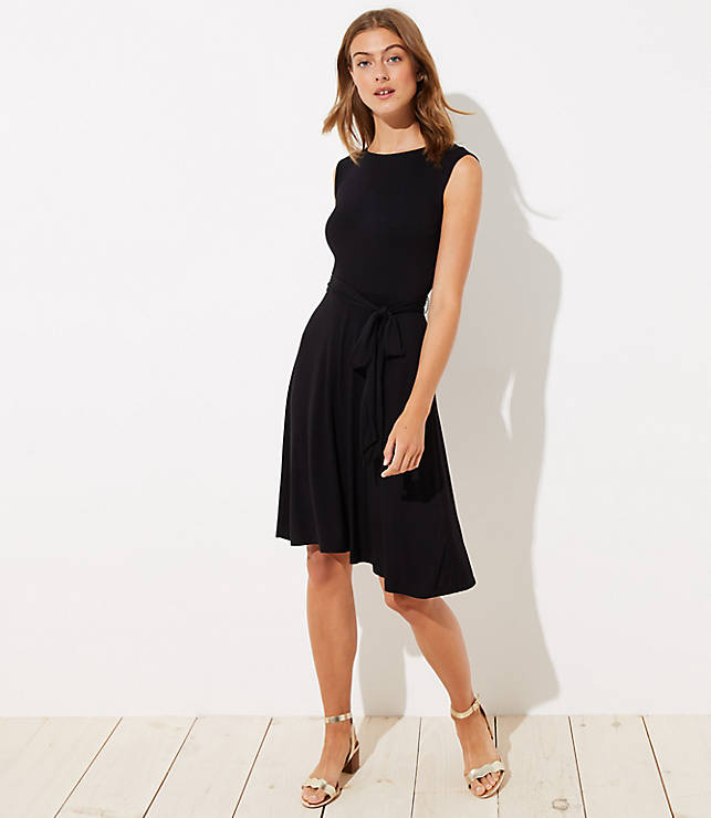 Petite Wrap Back Dress