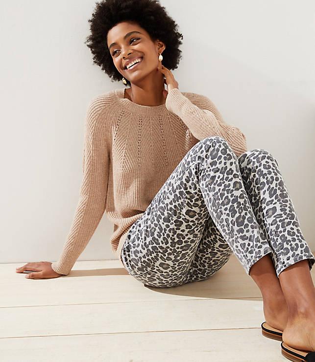 Petite Pointelle Yoke Sweater