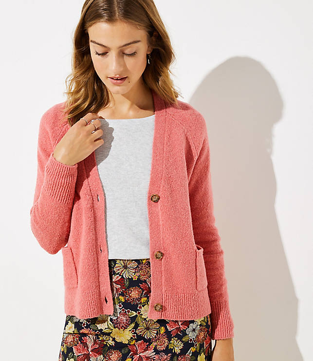 Petite V-Neck Pocket Cardigan