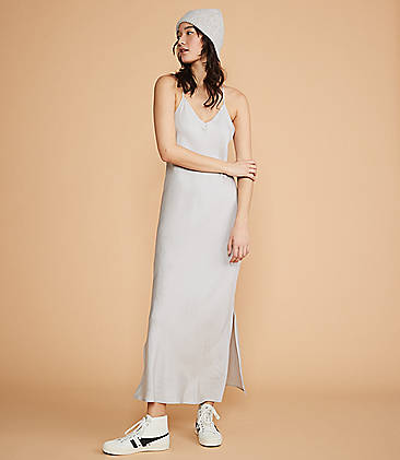 e4e9603d821 ... 98 Lou   Grey Shimmer Twill Racerback Slip Dress