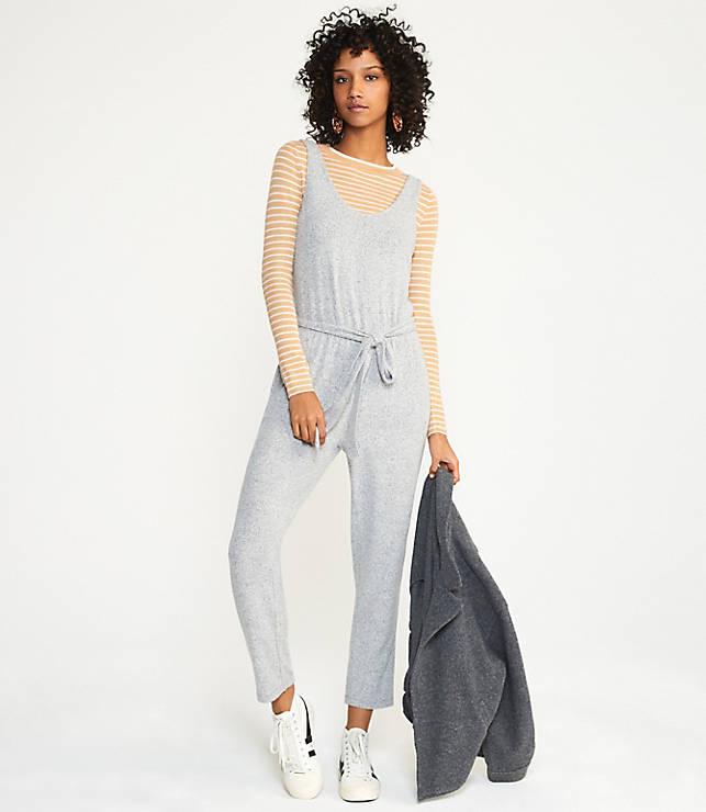 b853393036a5b9 Lou & Grey Brushmarl Sleeveless Jumpsuit   Lou & Grey