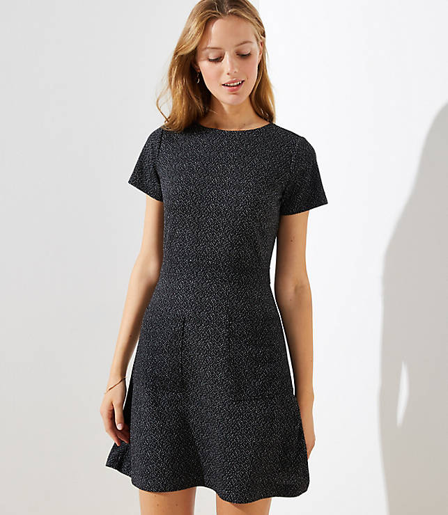 Petite Flecked Pocket Flare Dress