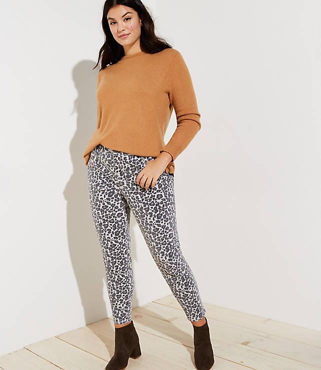 421727595d6 LOFT Plus Skinny Jeans in Leopard Print