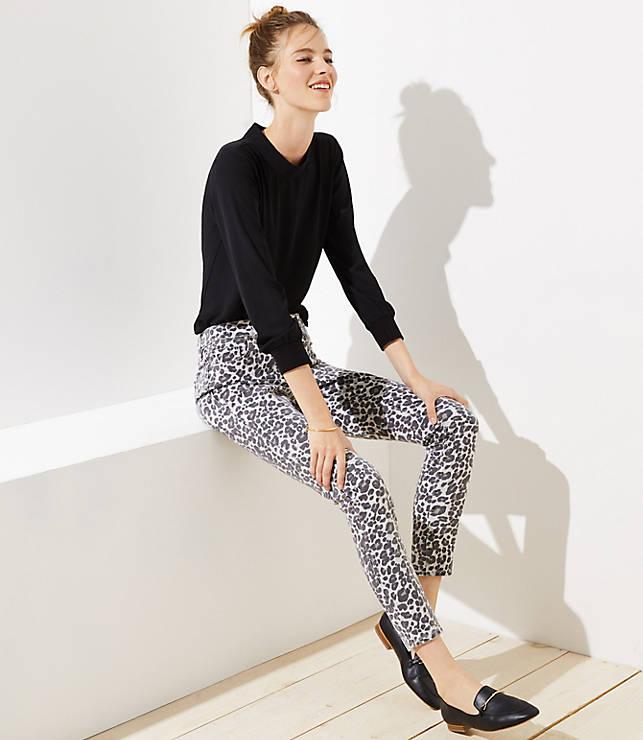 Petite Modern Skinny Jeans in Leopard Print