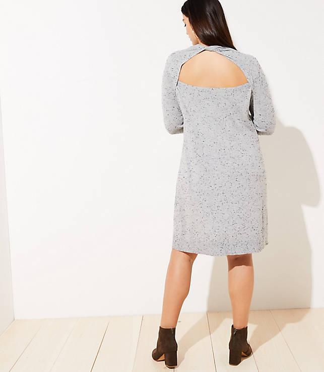 eca06b34453 ... Flecked Cutout Back Sweater Dress. previous image next image