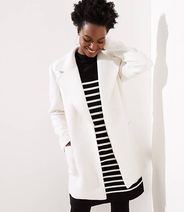 Petite Twill Wrap Coat