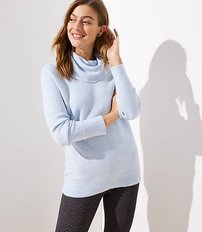 Petite Cowl Neck Tunic Sweater