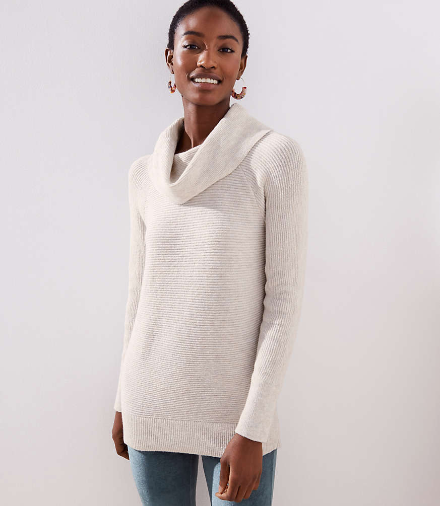 Petite Cowl Neck Tunic Sweater Loft