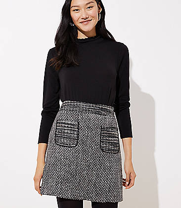 2bc7589357f27 Tweed Pocket Skirt