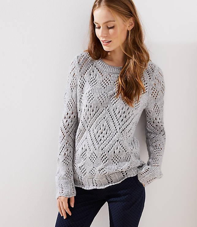 Petite Lacy Knit Sweater