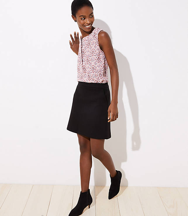 Petite Pocket Shift Skirt