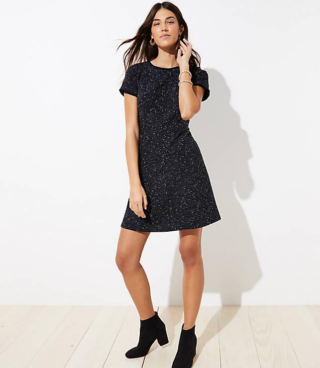 ba4ab691a94 Tall Tweed Flare Dress