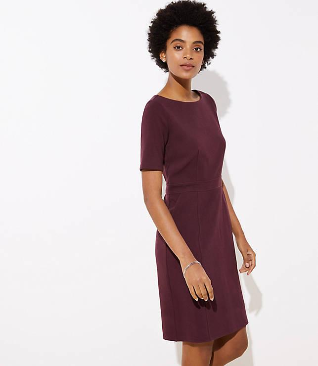 Petite Pocket Sheath Dress