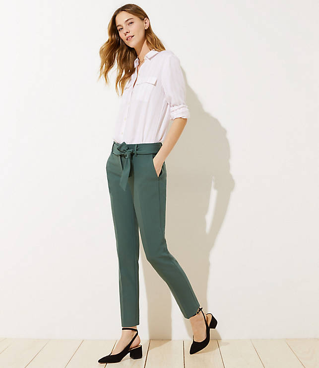 a10e90a917 Slim Tie Waist Pencil Pants in Marisa Fit   LOFT