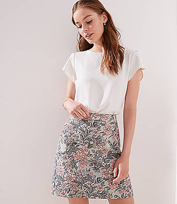 Garden Jacquard Shift Skirt a1bdcd12b