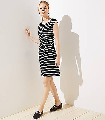 2c70312723a0 Striped Side Shirred Dress