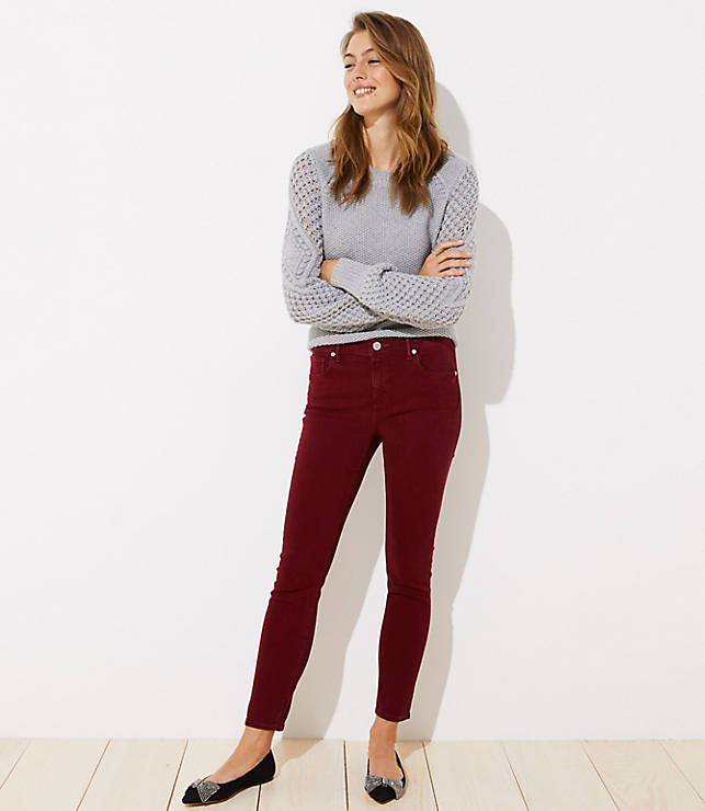 Petite Modern Soft Skinny Jeans in French Burgundy