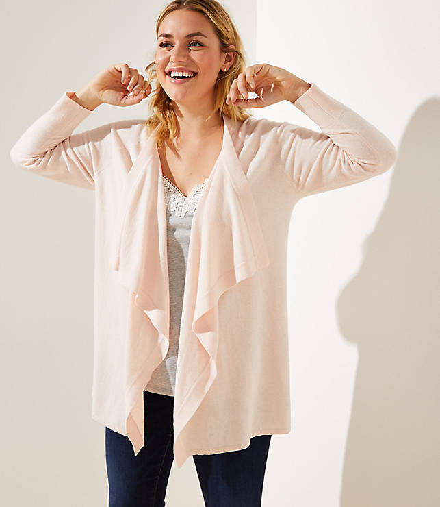Loft Plus Draped Open Cardigan by Loft