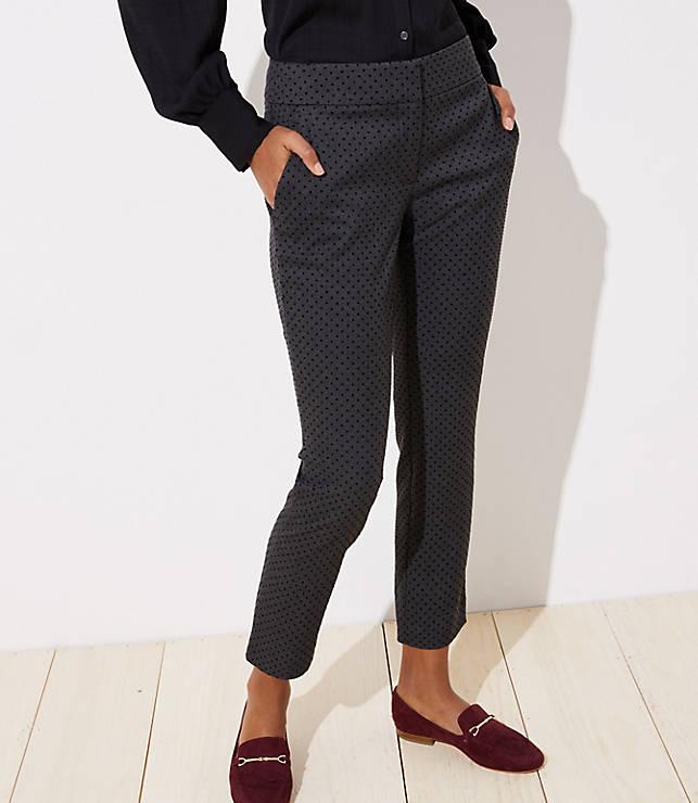 Petite Velvet Dot Skinny Ankle Pants in Julie Fit