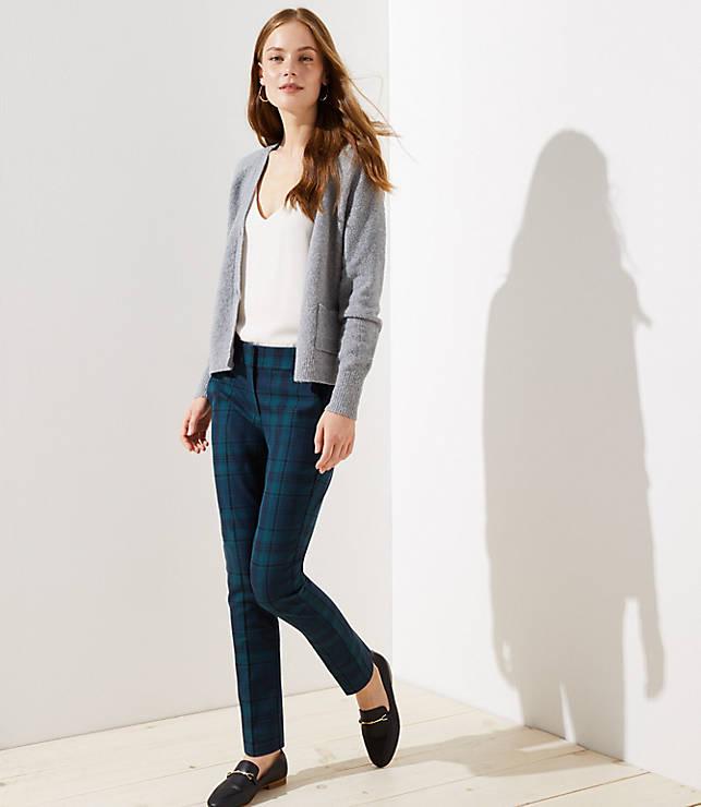 Petite Plaid Skinny Pants in Marisa Fit