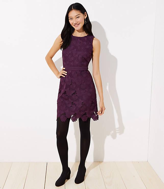 1c234d783 Floral Scalloped Lace Dress