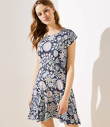 bae40208c879 Garden Crossover Back Flutter Dress