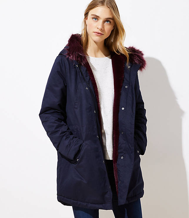 Faux Fur Lined Parka  23854c094b