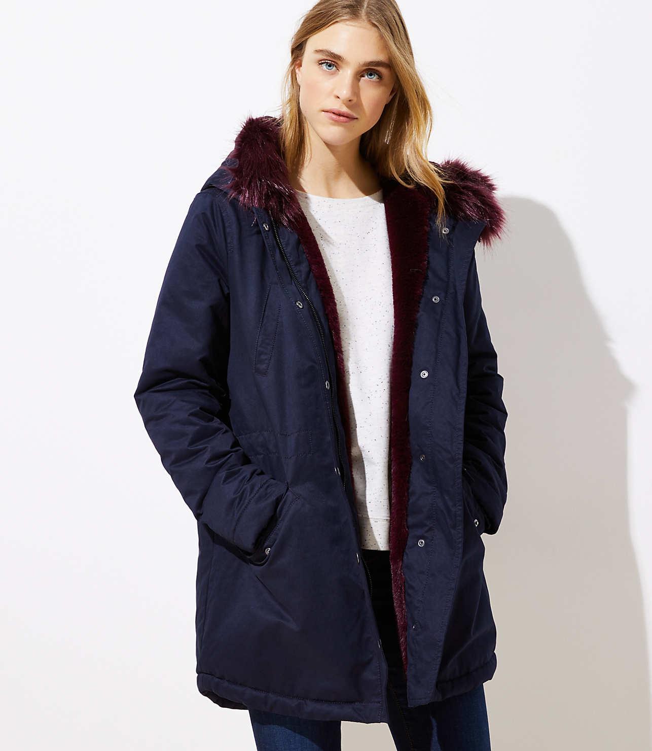 innovative design fdd74 699e3 Faux Fur Lined Parka | LOFT