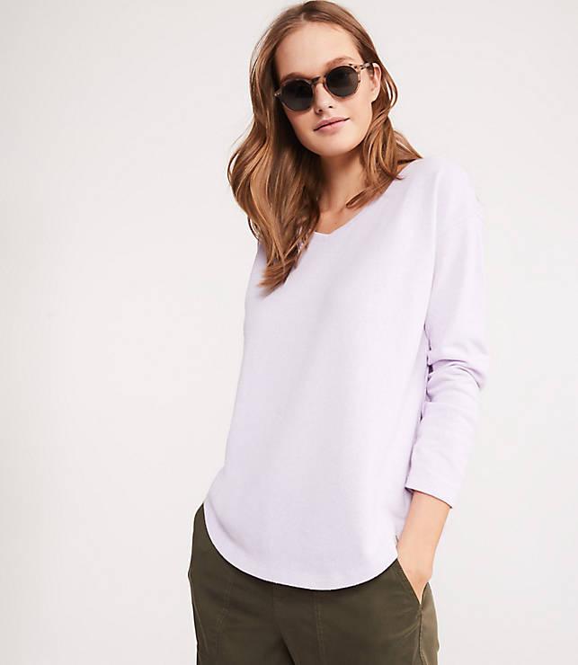 9716ed7e19cbd2 Lou   Grey Cozy Textured Shirttail Top
