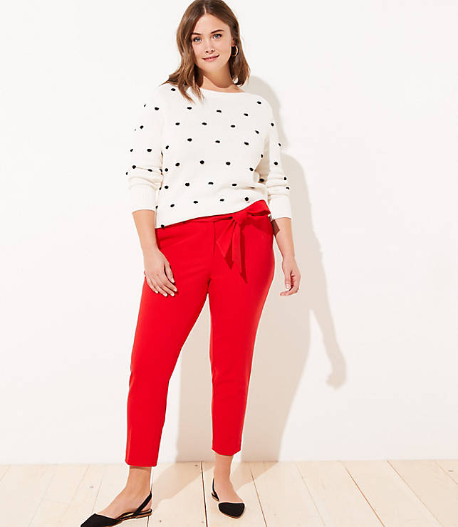 Loft Plus Slim Tie Waist Pencil Pants by Loft
