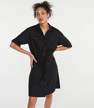 bdb3e91e3601 Lou   Grey Linen Safari Dress