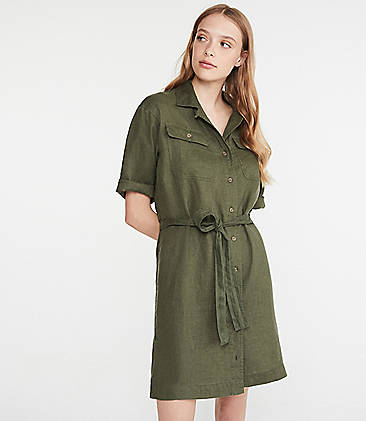 2cc864f32f Lou   Grey Linen Safari Dress
