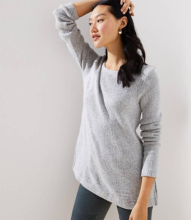 Petite Bar Back Tunic Sweater