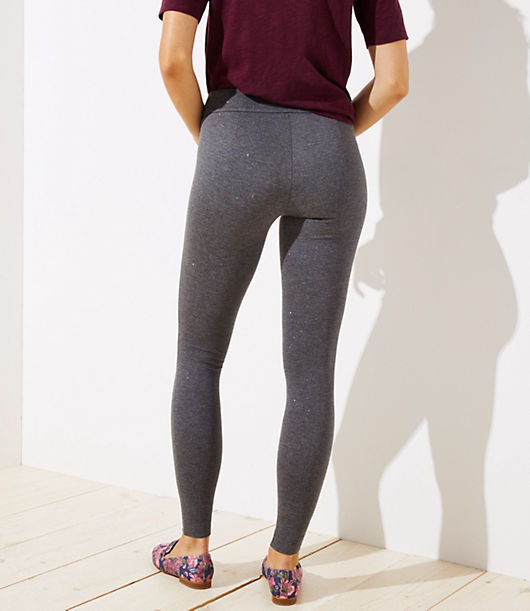 6f668a9e2cab97 Image 3 of 3 - Petite Leggings in Shimmer Ponte