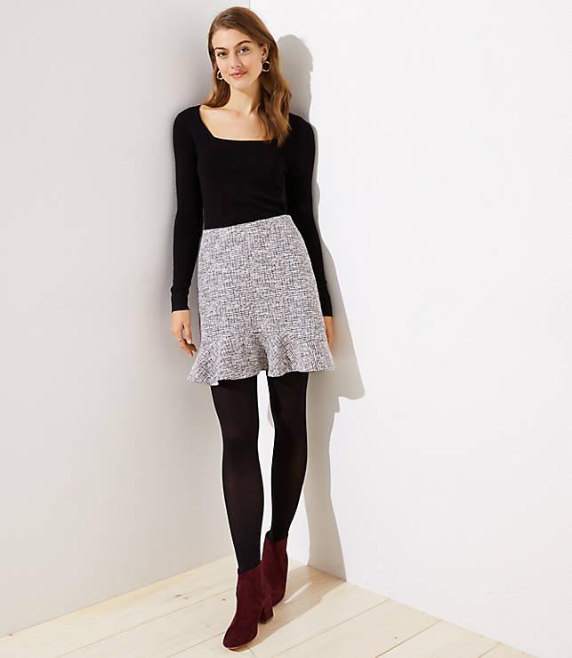 Petite Shimmer Flippy Skirt