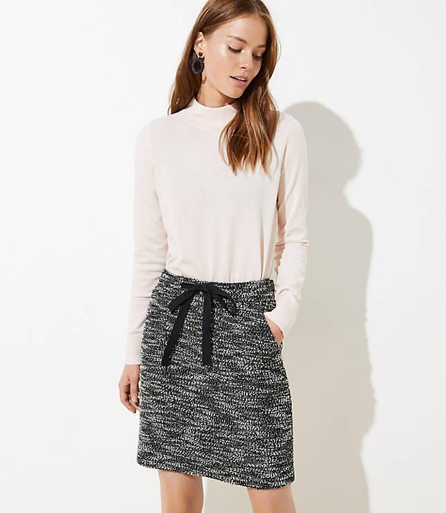Petite Boucle Pocket Drawstring Skirt