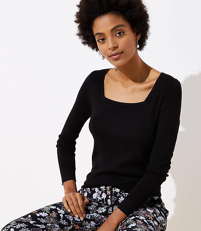 Petite Square Neck Sweater