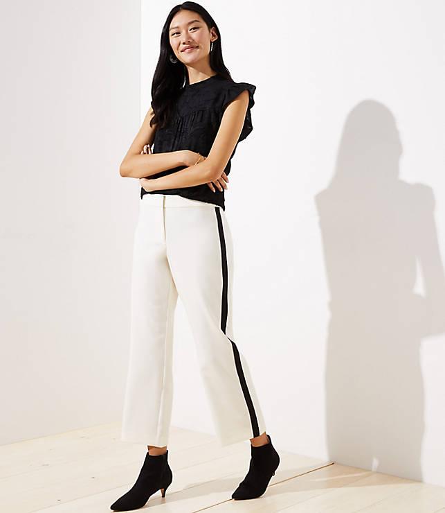 Petite Straight Leg Pants in Side Stripe