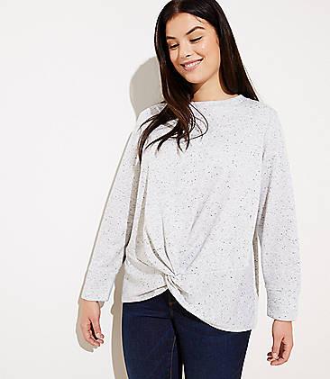 981b264c1b2 LOFT Plus Speckled Twist Sweatshirt
