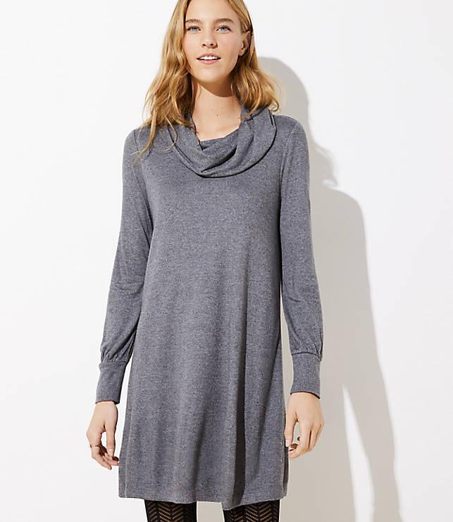 Petite Cowl Neck Dress