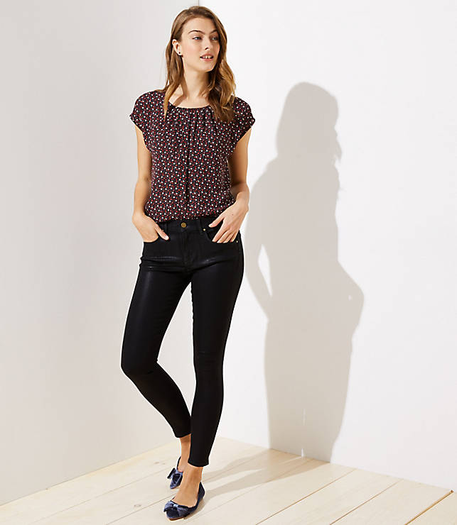 Petite Modern Coated Skinny Jeans
