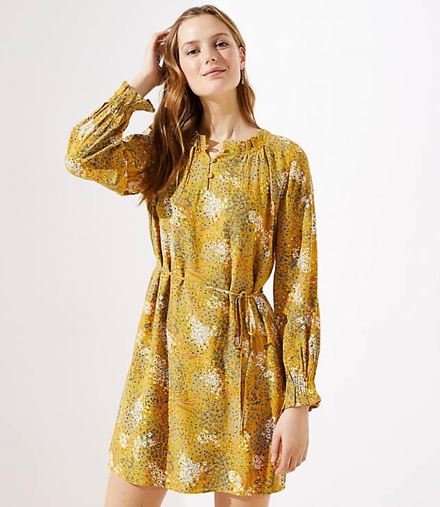 Petite Meadow Ruffle Henley Dress